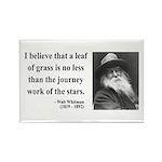 Walt Whitman 19 Rectangle Magnet (10 pack)