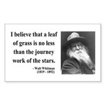 Walt Whitman 19 Rectangle Sticker