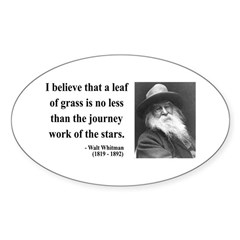Walt Whitman 19 Oval Sticker