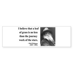 Walt Whitman 19 Bumper Bumper Sticker