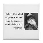 Walt Whitman 19 Tile Coaster