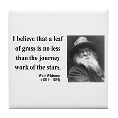 Walt Whitman 19 Tile Coaster