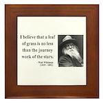 Walt Whitman 19 Framed Tile