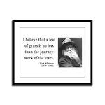 Walt Whitman 19 Framed Panel Print