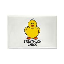 Triathlon Chick Rectangle Magnet (10 pack)
