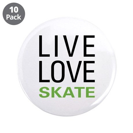 """Live Love Skate 3.5"""" Button (10 pack)"""
