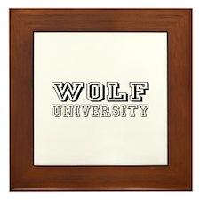 Wolf Last Name University Framed Tile