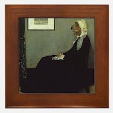 PBGV WHISTLER'S MOTHER Framed Tile