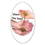 Share The Peas Oval Sticker