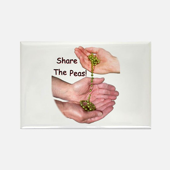 Share The Peas Rectangle Magnet