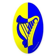 Caer Galen populace Oval Sticker (10 pk)