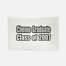 """Chemo Graduate: 2007"" Rectangle Magnet"