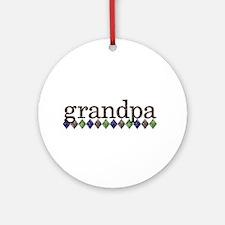 grandpa t-shirts grunge style Ornament (Round)