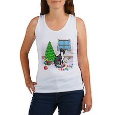 Christmas Tuxedo Cat Women's Tank Top