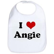 I Love Angie Bib