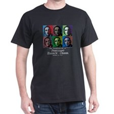 Yes We Did! Obama Dark Graffiti Tee