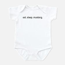 eat sleep mustang copy Body Suit