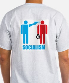 Socialism Logo On Light Colored T (back)