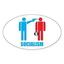 Socialism Logo Oval Decal