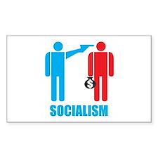 Socialism Logo Rectangle Decal