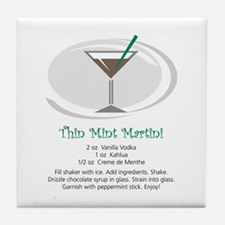 Martini Tile Coaster (Thin Mint)