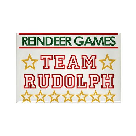 Team Rudolph Rectangle Magnet (100 pack)