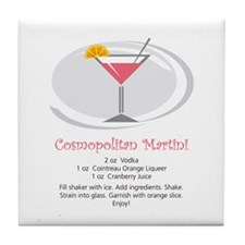 Martini Tile Coaster (Cosmo)