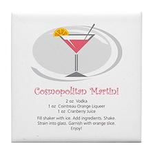Martini Tile Coaster (Cosmo)