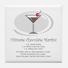 Martini Tile Coaster (Chocolate)