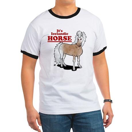 It's Icelandic HORSE Ringer T