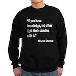 Churchill Knowledge Quote Sweatshirt (dark)
