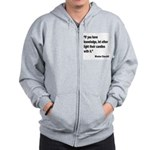 Churchill Knowledge Quote Zip Hoodie