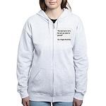 MacArthur Best Luck Quote Women's Zip Hoodie
