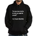 MacArthur Best Luck Quote Hoodie (dark)