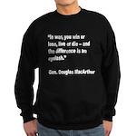 MacArthur Live or Die Quote Sweatshirt (dark)