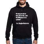 MacArthur Live or Die Quote Hoodie (dark)