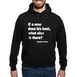 Man Does His Best Hoodie (dark)