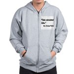 Patton Take Risks Quote Zip Hoodie