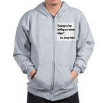 Patton Courage Fear Quote Zip Hoodie