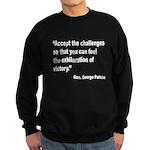 Patton Accept Challenges Quot Sweatshirt (dark)
