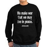 Make War to Live in Peace Quo Sweatshirt (dark)