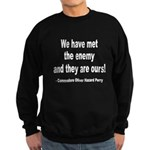 We Have Met the Enemy Quote Sweatshirt (dark)