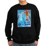 Comic Pants Down Humor Sweatshirt (dark)
