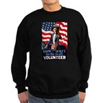 Don't Wait to Volunteer Sweatshirt (dark)
