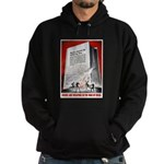 Books Are Weapons Poster Art Hoodie (dark)