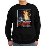Submarine Service Poster Art Sweatshirt (dark)