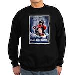 Don't Shiver Winter Poster Ar Sweatshirt (dark)
