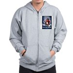Don't Shiver Winter Poster Ar Zip Hoodie