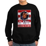 Are You Doing All You Can Vin Sweatshirt (dark)