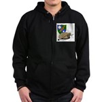Army Ranger Beret Dagger Zip Hoodie (dark)